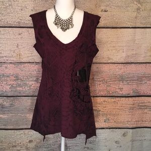 Affliction sleeveless top size L